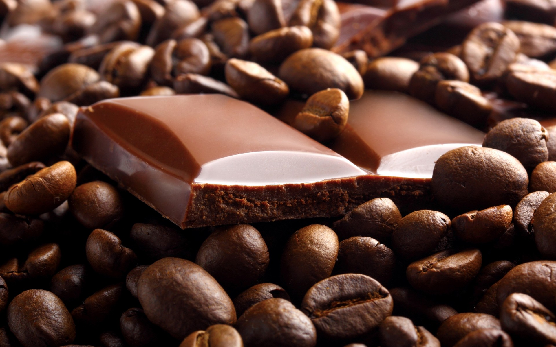 chocolate, coffee beans, breakfast