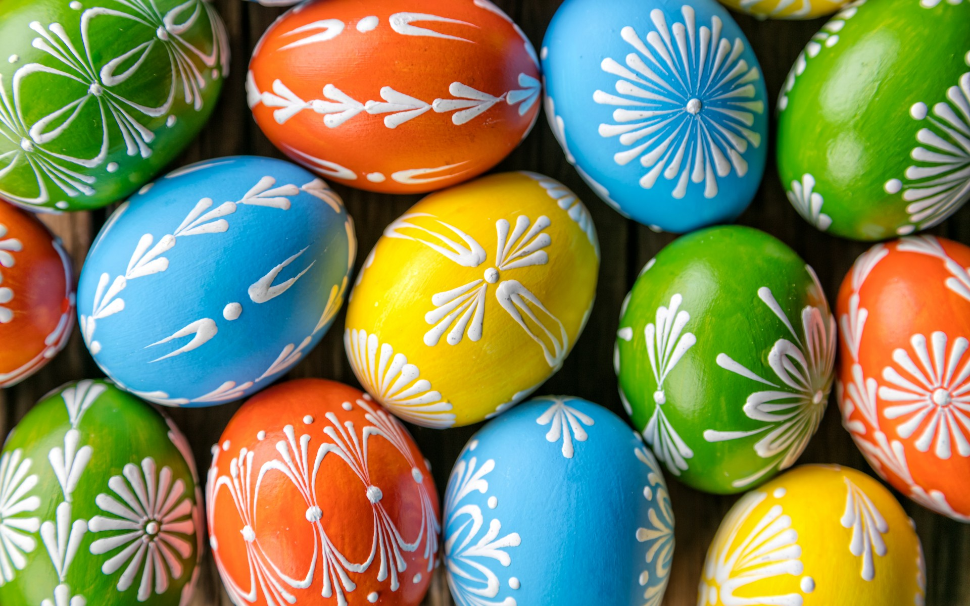 painted eggs, easter, tradition, spring