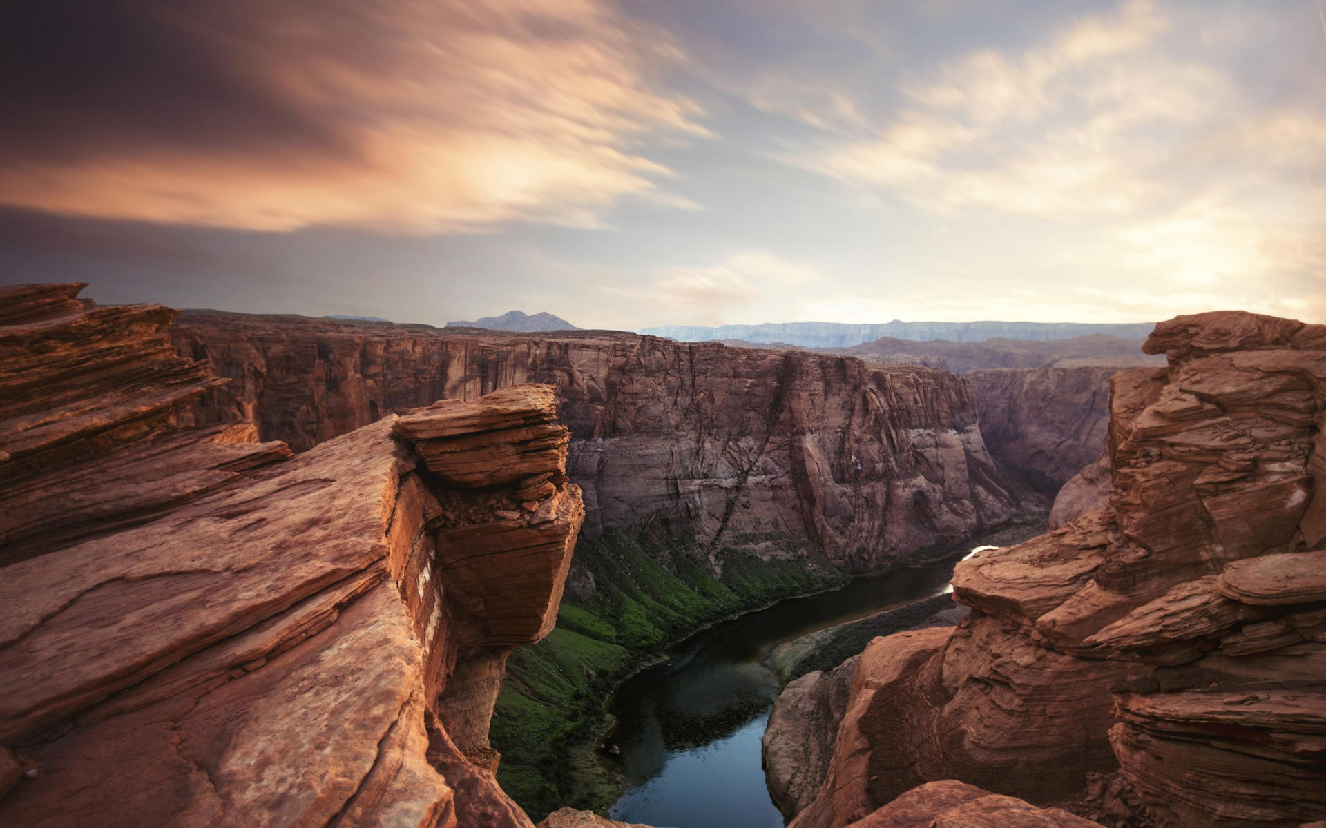 beautiful landscape  with grand canyon
