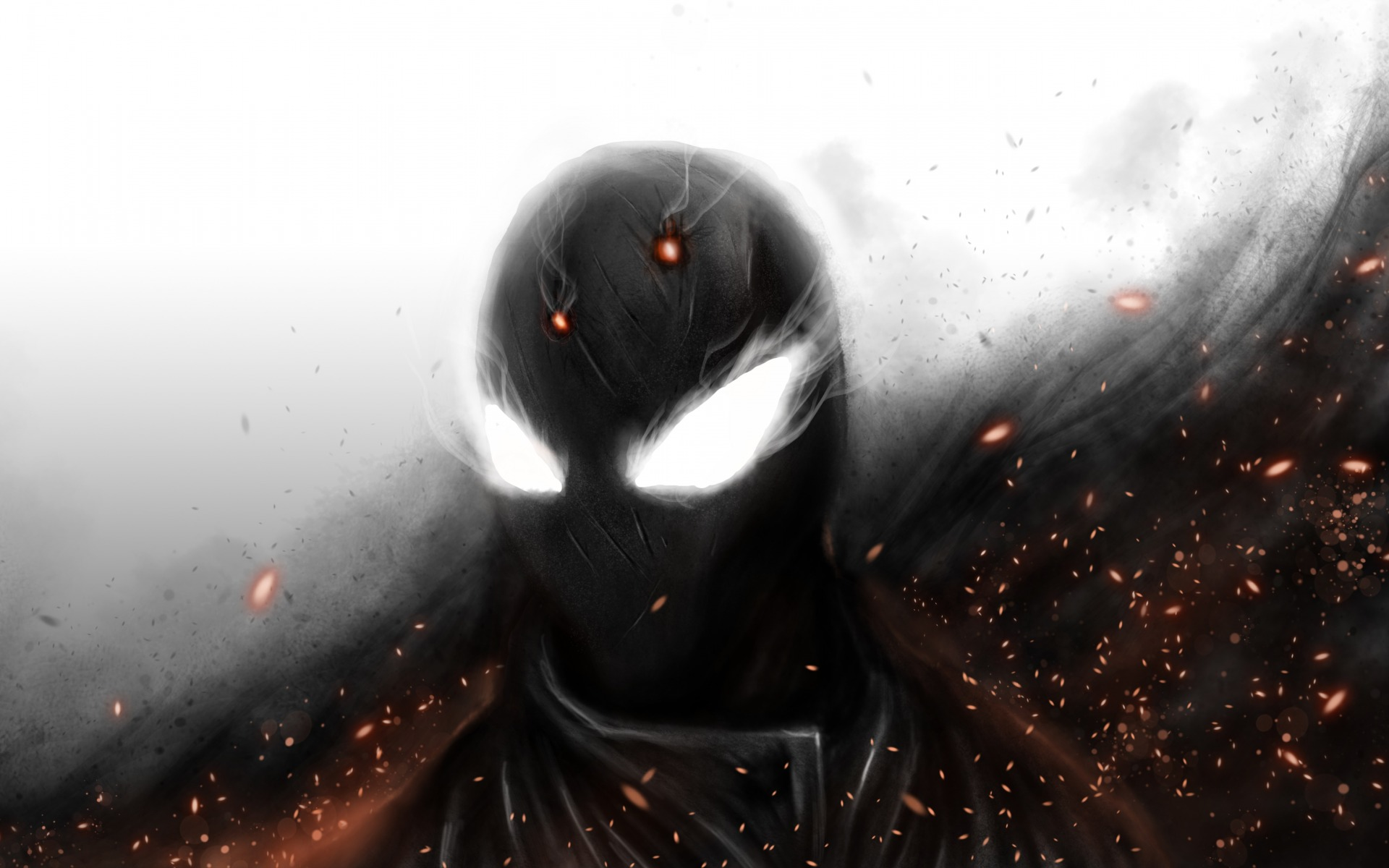 sparks, spider man, mask