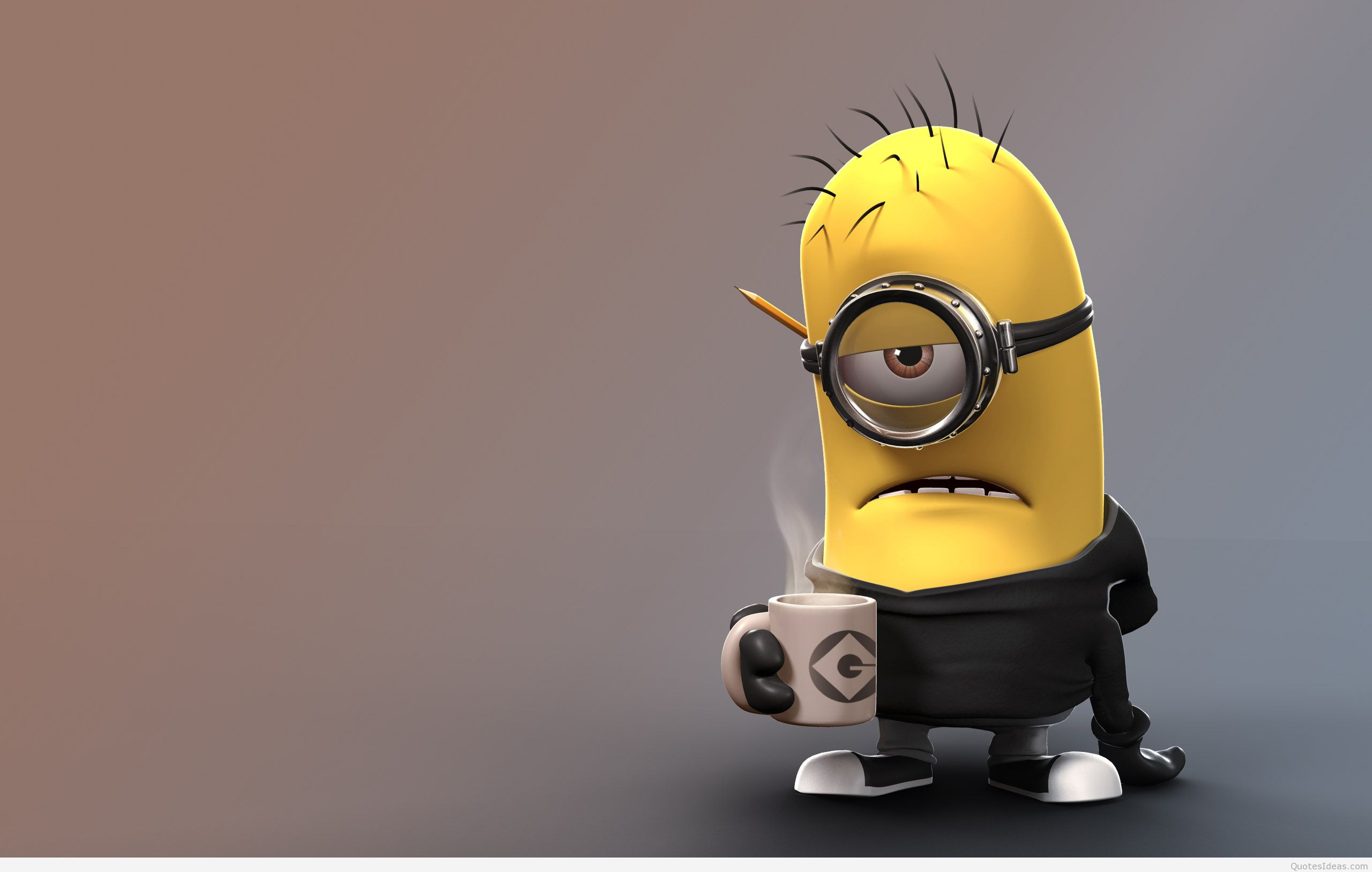 Minion of despicable me coffe