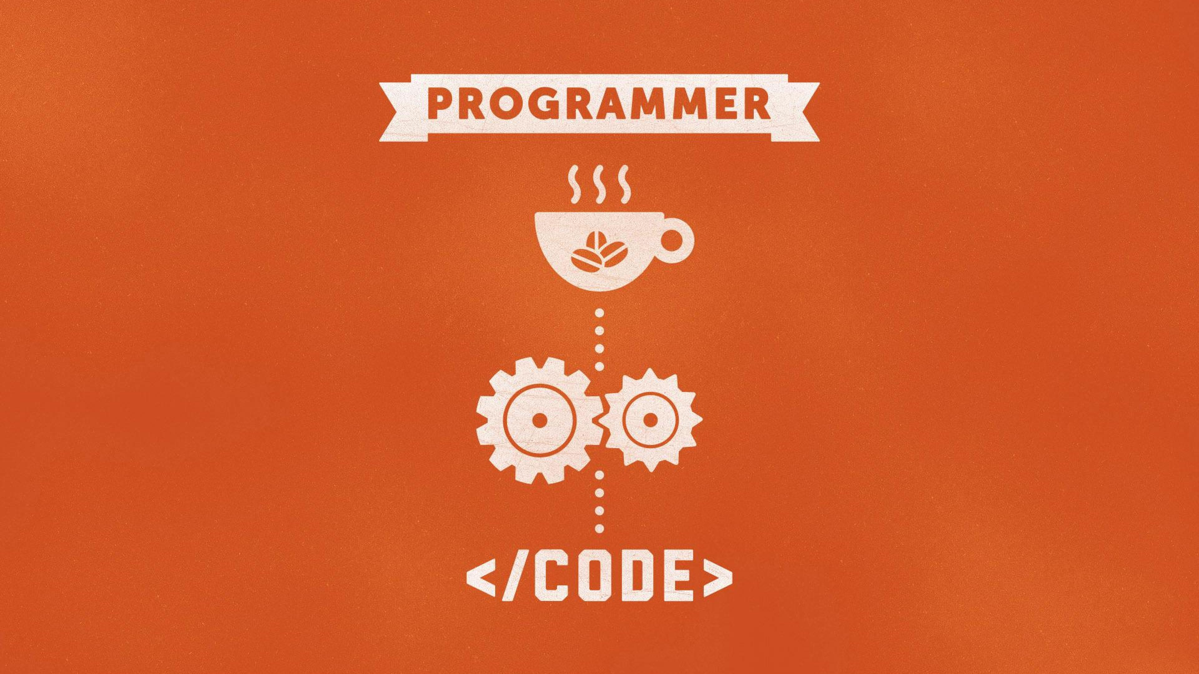 Typography coffee programmer code