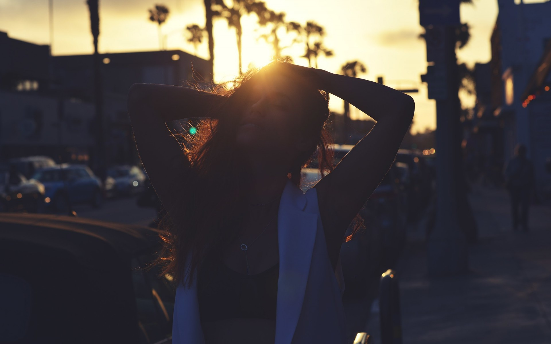 Girl on sunset